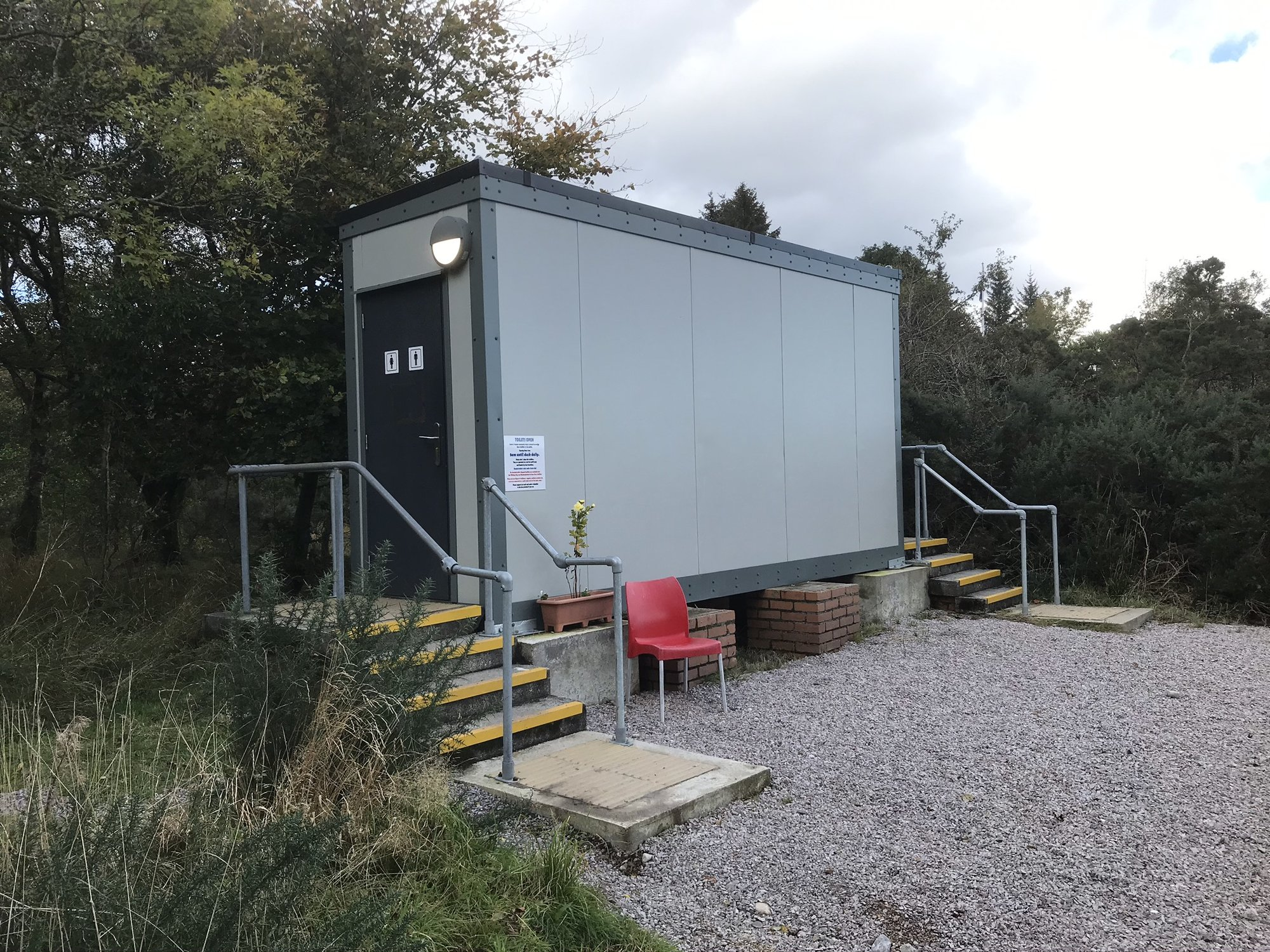 New toilets Sannox Arran. | Wild Camping for Motorhomes